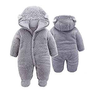 XMWEALTHY Unisex Baby Cloth Winter Coats Cute Newborn Infant Jumpsuit Snowsuit Bodysuits