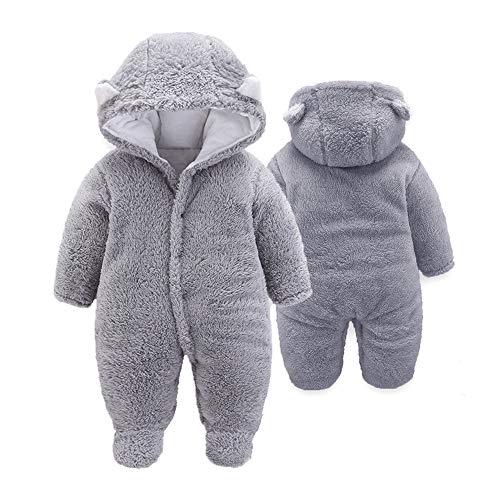 Motteecity Boys Clothes Fall Winter Warm Cartoon Bear Zipper Fleece Hoody