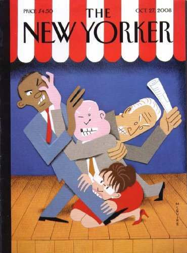 (New Yorker cover McGuire political melee Obama McCain Palin Biden 10/27)