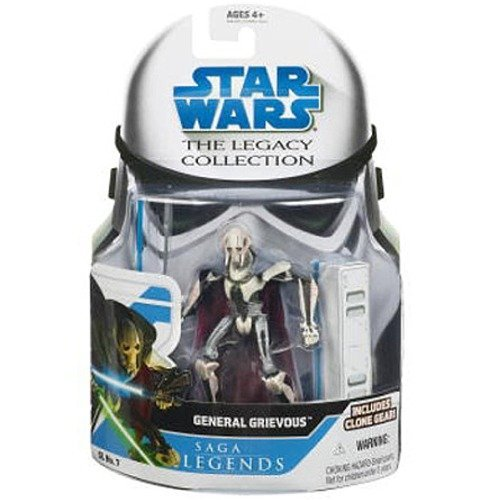 general grievous star wars saga legends assortment figu (style and colors may vary) (Star Wars Dc 15 Blaster Rifle Toy)