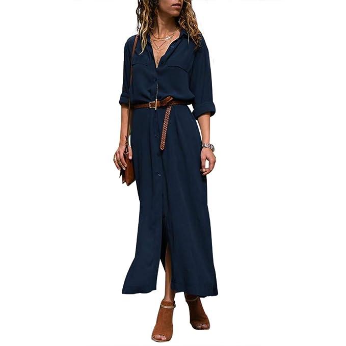 Amazon.com: Honwenle - Vestido para mujer, cuello redondo ...