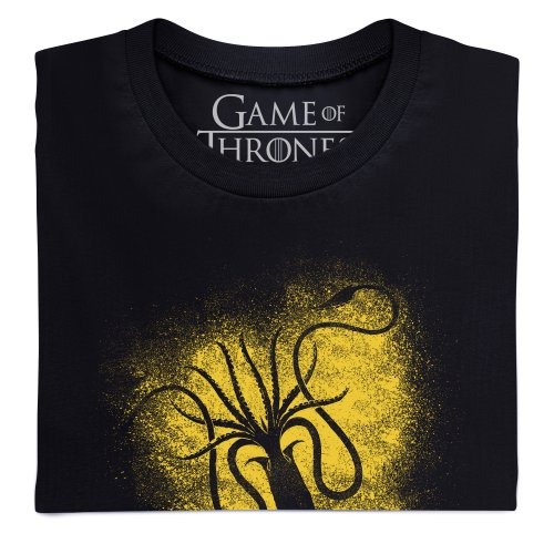Official Game of Thrones - Greyjoy Sigil Spray Camiseta, Para mujer Negro