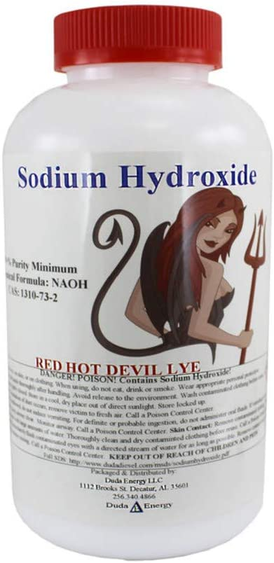 10 lb Red Hot Devil Lye Sodium Hydroxide Meets Food Chemical Codex High Grade Caustic Soda Beads
