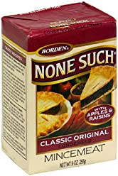 Borden None Such Condensed Mincemeat, Apples & Raisins, 9-Ounce Box (Pack