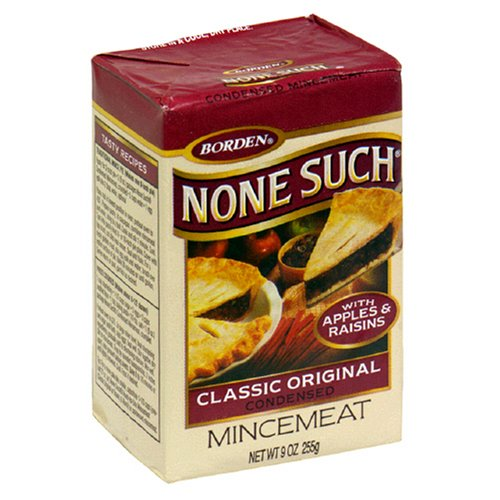 Borden None Such Condensed Mincemeat, Apples & Raisins, 9-Ounce Box (Pack of 6)