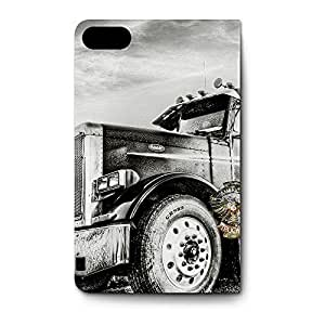 Leather Folio Phone Case For Apple iPhone 5S Leather Folio - American Trucker Flip Stand