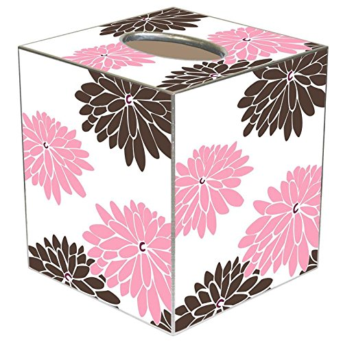 - Mod Mum Pink and Brown Paper Mache Tissue Box Cover