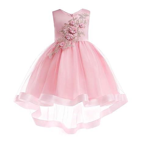 DZOUP Vestido niña Fiesta de 2 a 10 años Princesa Cumpleaños ...