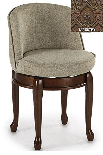 Remarkable Home Decorators Collection Delmar High Back Swivel Vanity Stool High Back Tapestry Andrewgaddart Wooden Chair Designs For Living Room Andrewgaddartcom