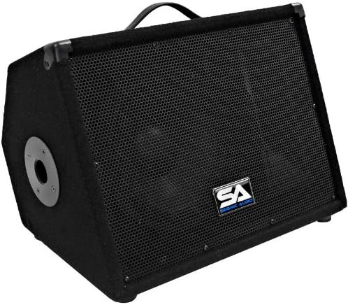 B003TTA1B2 Seismic Audio - SA-10M.3 - Pro Audio 10 Inch 2-Way Floor Monitor Stage Speakers PA/DJ Church - 200 Watts 510G6rEPSpL.