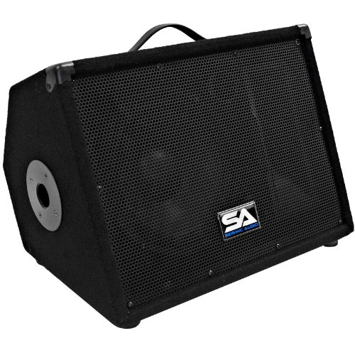 Seismic Audio - SA-10M.3 - Pro Audio 10 Inch 2-Way Floor Monitor Stage Speakers PA/DJ Church - 200 Watts