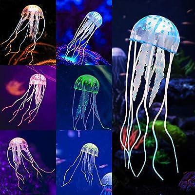 Glowing Jellyfish 6pcs Aquarium Glowing Jellyfish Decoration Aquarium Ornament Decorations For Fish Tank Decorations