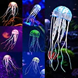 Glowing Jellyfish, 6pcs Aquarium Glowing Jellyfish Decoration Aquarium Ornament Decorations for Fish Tank Decorations