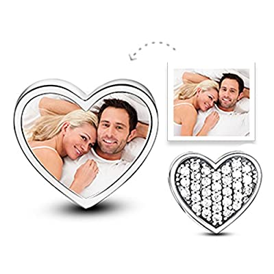 """Glamulet 925 Sterling Silver Personalized Photo Charms """"Forever Memory"""" Customized Beads For Bracelet from Glamulet"""