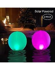 Luz LED para piscina,Inflable,Resistente al agua, IP68 Globo Solar,Lámpara de bola de Piscina al aire Libre,4 colores Cambiantes,luz nocturna LED,Decoración de fiesta para Piscina,Boda,Playa
