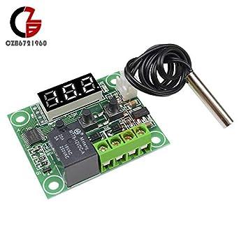 White DC 12V W1209 Digital LED Temperature Controller Sensor Thermostat -50~110℃
