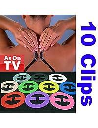 10 pcs x Cleavage Control Magic Bra Clips (10 Different Colors)