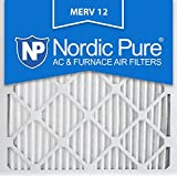 Nordic Pure 20x20x1M12-6 MERV 12 Pleated Air Condition Furnace Filter, Box of 6 by Nordic Pure