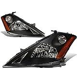 nissan murano halo headlights - Nissan Murano Z50 1st Gen Pair of Black Housing Amber Corner Headlight Lamp