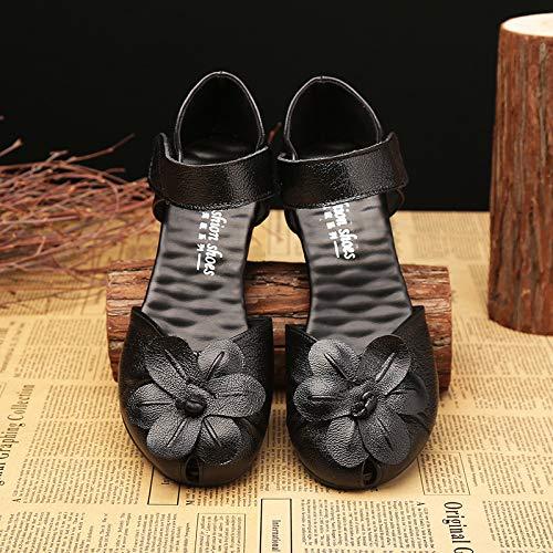 Dimensione Pelle Viola Eu Tacco 36 In Cinturino colore Scarpe Nero Con Zhrui E qwFCzgxa