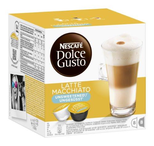 Nescafé Dolce Gusto Latte Macchiato ungesüßt, 3er Pack (48 Kapseln)