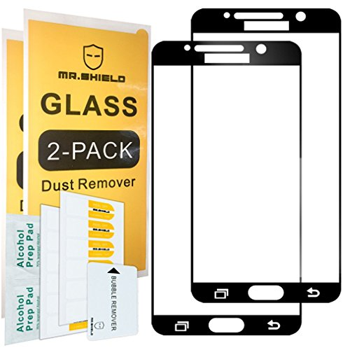 [2-Pack]-Mr.Shield for Samsung Galaxy Note 5 [Japan Tempered Glass] [9H Hardness] [Full Screen Glue Cover] Screen Protector with Lifetime Replacement
