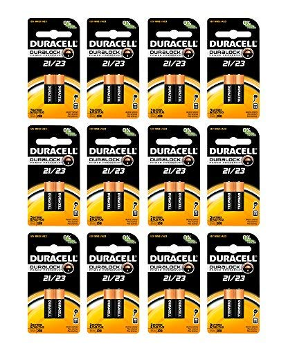 24x Duracell A23 Batteries 12V Alkaline 21 23A A23BP GP23 Carded (2pk x 12) by Duracell