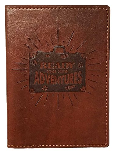 Eccolo Synthetic Leather Travel Passport Holder Cover Wallet Document Organizer (Adventure Brown) - Adventure Luggage