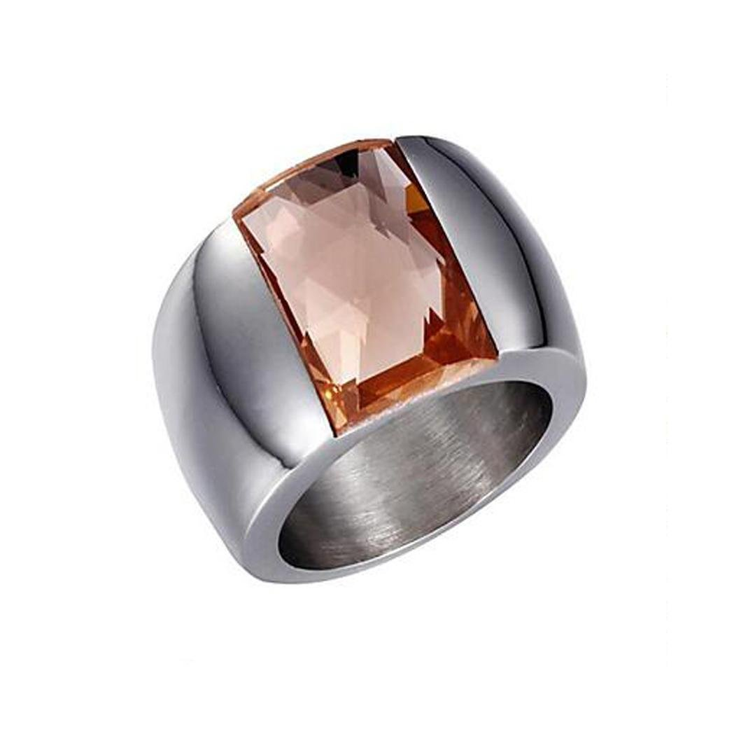 GYJUN Premium or plaqué or 18 carats incrusté d'or bague ouverte en argent 6