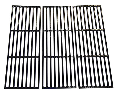 Parts Duo - Hongso PCE051 Porcelain Coated Cast Iron Grill Cooking Grates Replacement for Chargriller Gas Grill Models 2121, 2123, 2222, 2828, 3001, 3030, 3725, 4000, 5050, 5252, 5650, Sold as a Set of 3