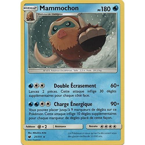 "Carte Pokémon SL4 ""Mammochon"" 180 PV – 21/111 – Rare"
