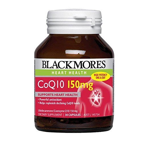 Blackmores CoQ10 150mg High Potency 30 Capsules, Maintaining Healthy Arteries and Heart Muscle Function with 1PCS Chinese Knot Gift by Blackmores - 30 150 Capsules Mg
