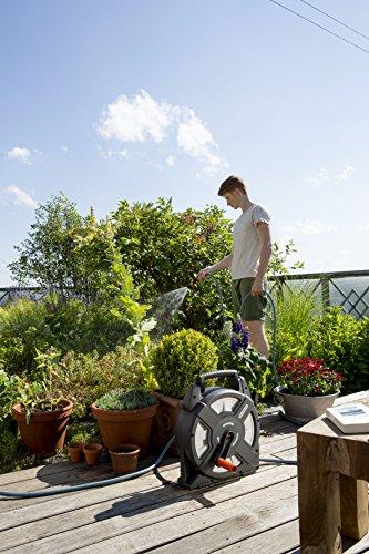510GB5V6eoL Gardena city gardening Terrassen-Schlauchbox 10 m: Schlauchrolle mit 10 m Schlauch, einklappbare Kurbel und Griff…