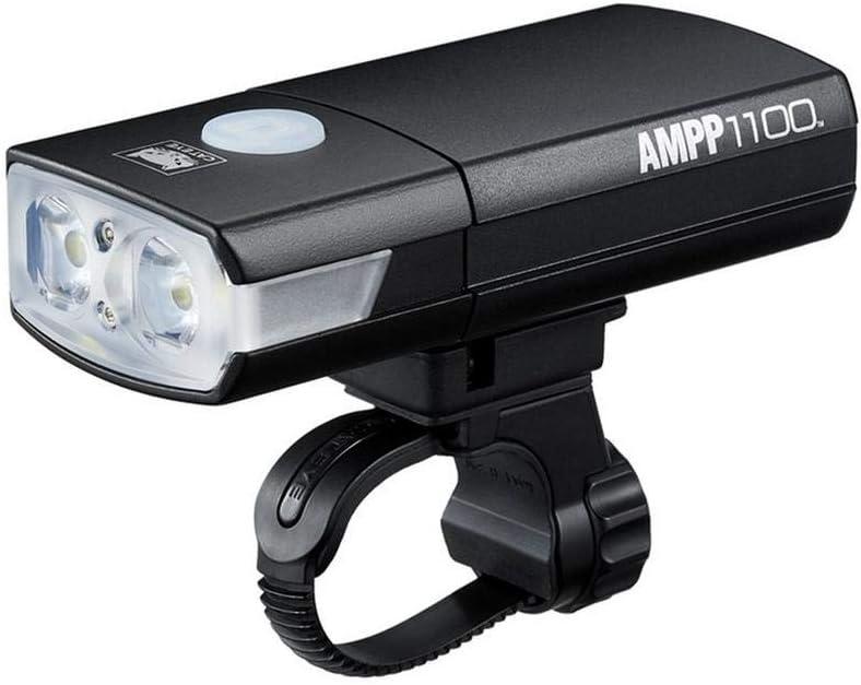 CatEye Ampp 1100 Front Luz para Bicicleta, Unisex Adulto, Negro, Talla única