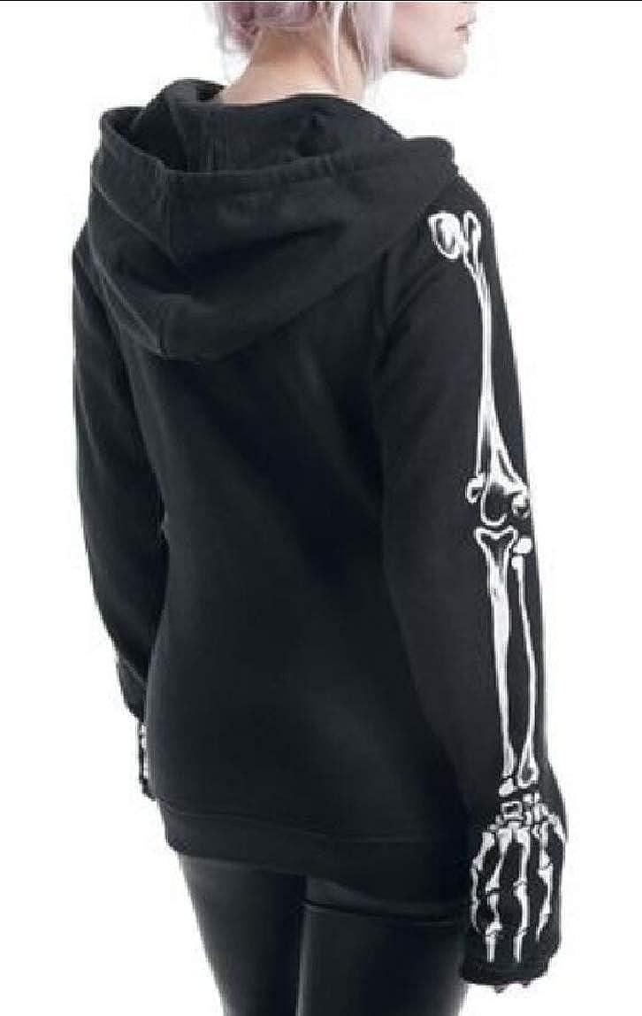 Yayu Women Gothic Witchcraft Vintage Casual Hoodies Top Sweatshirt