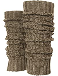 Solid Winter Cable Knit Leg Warmers