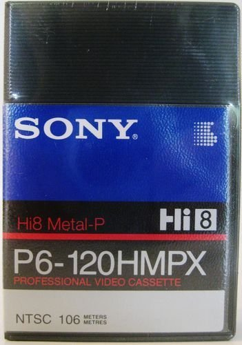 Sony P6-120HMPX Hi8 8mm Metal Particle Professional Video Cassette