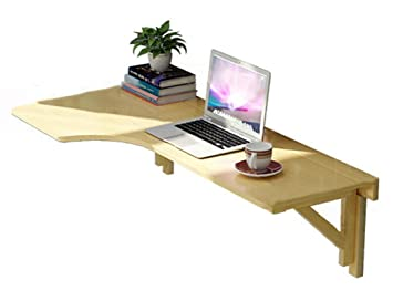 Bureau d ordinateur de coin en bois massif table pliante table de
