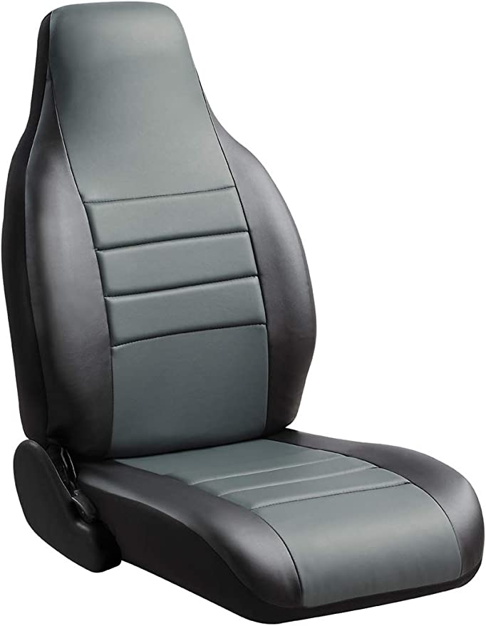 Fia SP82-40 GRAY Custom Fit Rear Seat Cover Bench Seat Poly-Cotton, Gray