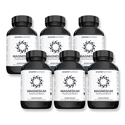 Smarter Magnesium - Salt-Water Sourced Natural Magnesium Supplement - Supporting Energy, Bone Health, Nerve & Muscle Function - from Seawater Aquamin, Avocado Oil, AstraGin (540 Count - 6 Month)