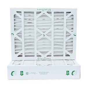 "20x25x4 MERV 8 AC Furnace 4"" Inch Air Filters. Box of 2(Actual Size: 19-1/2"" x 24-1/2"" x 3-3/4"")"