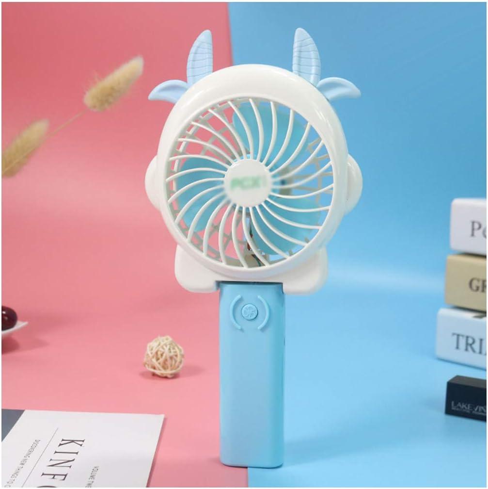 YOUCAI Portátil de Bolsillo Portátil Mini Ventilador Ventilador Eléctrico con Batería Recargable Ajustable 3 Velocidades para la Habitación,Azul 2,1