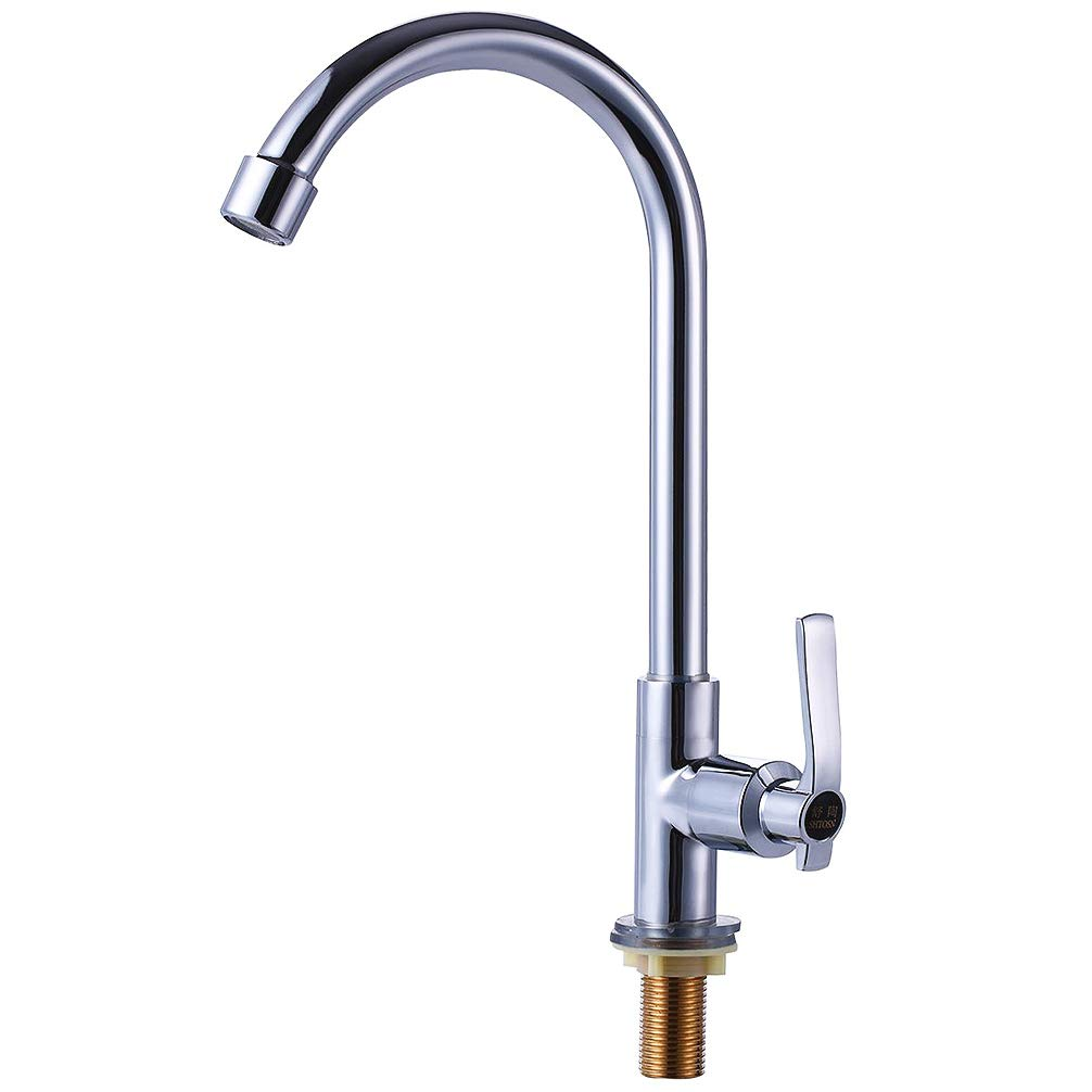 Enjoyable Single Handle High Arc Outdoor Sink Faucet For Boat Camper 360 Degree Rotatable Cold Water Filter Faucet For Kitchen Garden Sink Easy Install Chrome Interior Design Ideas Helimdqseriescom