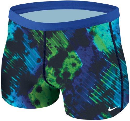 Nike Swim TFSS0035 Mens Tie Dye Square Leg, Bright Blue-30