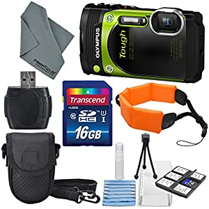 Olympus Stylus Tough TG-870 Waterproof Digital Camera, Along with Deluxe Accessory Bundle