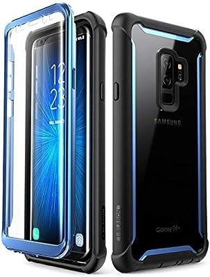 i-Blason Funda Galaxy S9 Plus [Ares] 360 Carcasa Completa Transparente Case con Protector de Pantalla Incorporada para Samsung Galaxy S9 Plus - Azul: Amazon.es: Electrónica