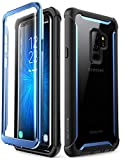 Samsung Galaxy S9+ Plus case, i-Blason [Ares] Full-Body Rugged Clear Bumper Case with Built-in Screen Protector for Samsung Galaxy S9+ Plus 2018 Release (Blue)