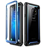 SUPCASE [Ares]  Funda para Samsung Galaxy S9 + Plus,Funda protectora resistente de cuerpo completo con protector de pantalla incorporada para Samsung Galaxy S9 + Plus 2018 (Negro/Azul)