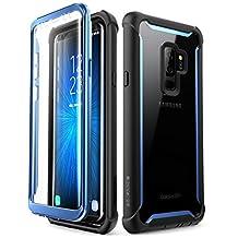 i-BLASON Samsung Galaxy S9+ Plus Caso, [Ares] Full-Body Rugged Clear Bumper Funda con Protector De visualización Integrado para Samsung Galaxy S9+ Plus 2018liberación (Negro/Azul)