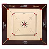 KD AAR-KAY Carrom Board Jumbo 28mm Vintage Plywood Approved by Carrom Federation of India & International Carrom Federation